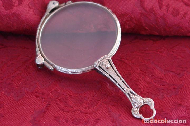 ANTIGUAS GAFAS IMPERTINENTE PLEGABLE DE 13 GRAMOS DE ORO BLANCO CON MARCAJE 14 K (Antigüedades - Técnicas - Instrumentos Ópticos - Gafas Antiguas)
