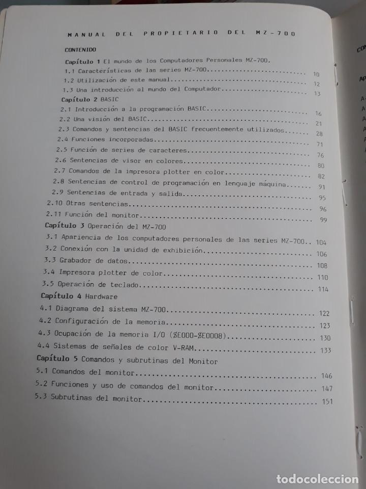 Antigüedades: Manual de usuario - MZ - 700 - Español - Sharp - Foto 2 - 196242746