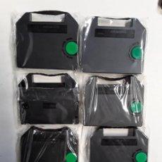 Antigüedades: TINTA CINTAS PARA ESCRIBIR OLIVETTI 6 RECAMBIOS NUEVOS A ESTRENAR . Lote 196336885