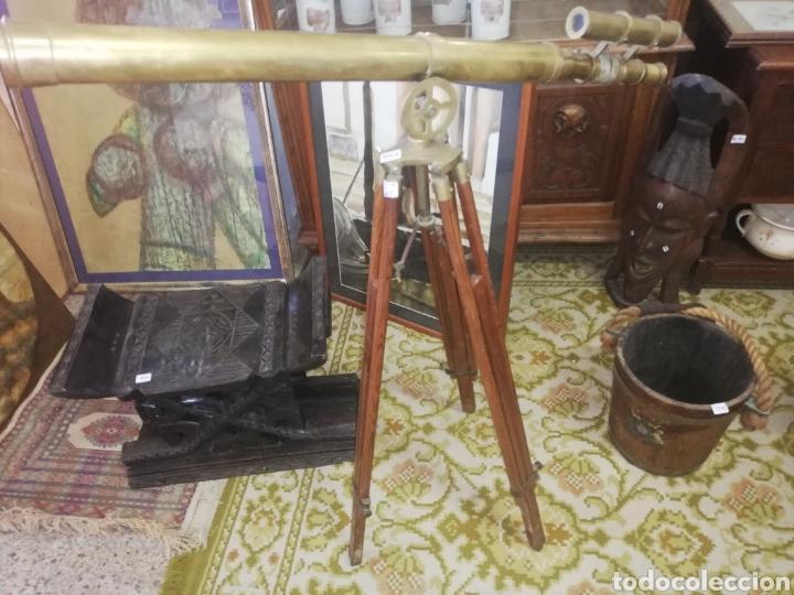GRAN CATALEJO DE BRONCE CON TRÍPODE.. ORIGINAL DE ÉPOCA ENTRE FINALES 1800...PRIMCIIO 1900.. (Antigüedades - Técnicas - Instrumentos Ópticos - Catalejos Antiguos)