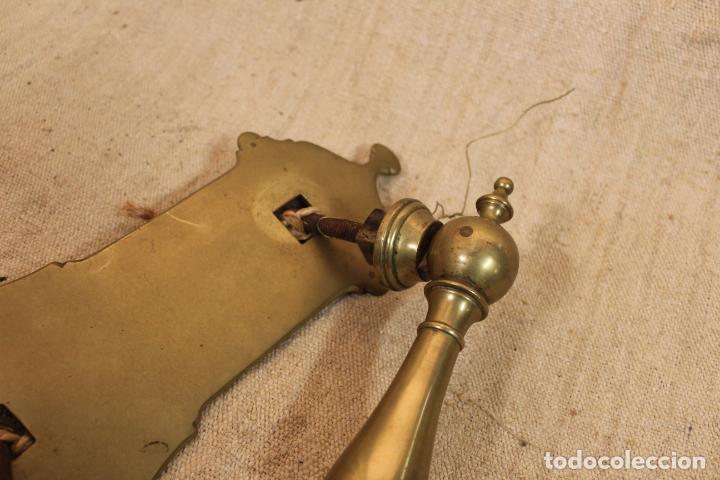 Antigüedades: picaporte aldaba de bronce - Foto 5 - 196523843