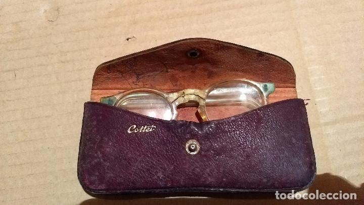 Antigüedades: Gafas de pasta antiguas con funda, Cottet. - Foto 2 - 196536731
