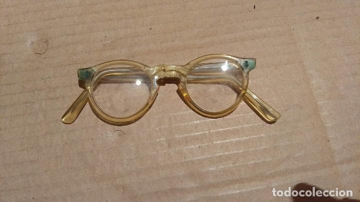 Antigüedades: Gafas de pasta antiguas con funda, Cottet. - Foto 3 - 196536731