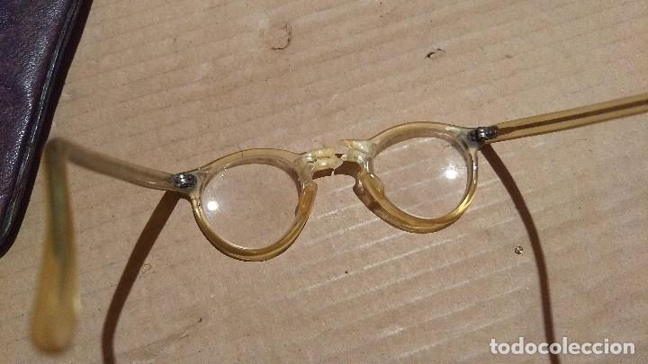 Antigüedades: Gafas de pasta antiguas con funda, Cottet. - Foto 10 - 196536731