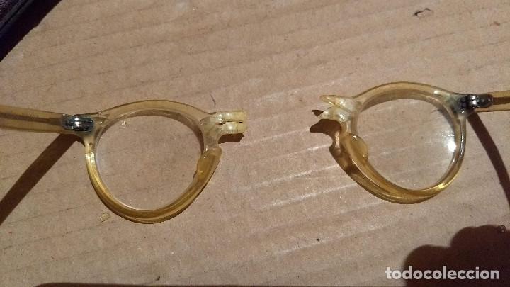 Antigüedades: Gafas de pasta antiguas con funda, Cottet. - Foto 11 - 196536731