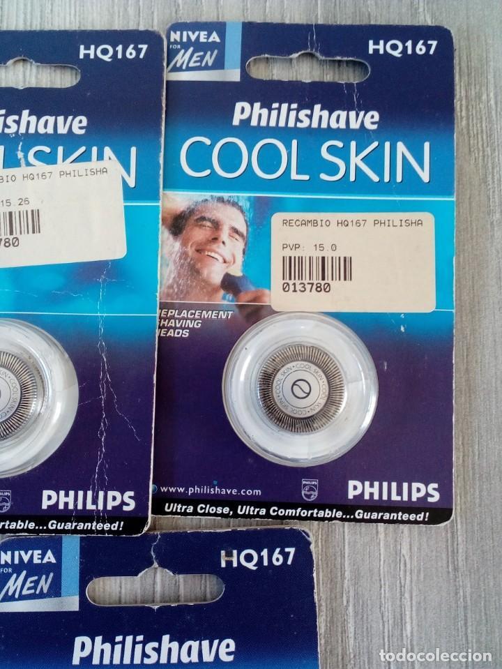 Antigüedades: Recambios HQ167 Philishave 3 Recambios Philishave Cool Skin. - Foto 2 - 196593211