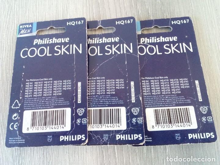 Antigüedades: Recambios HQ167 Philishave 3 Recambios Philishave Cool Skin. - Foto 3 - 196593211