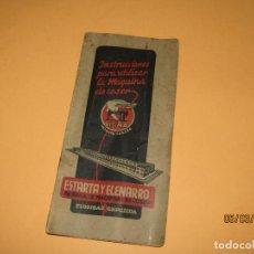 Antigüedades: ANTIGUAS INSTRUCCIONES Y DESPIECE DE LA MÁQUINA DE COSER SIGMA DE ESTARTA Y ECENARRO EN ELGOIBAR. Lote 196657163