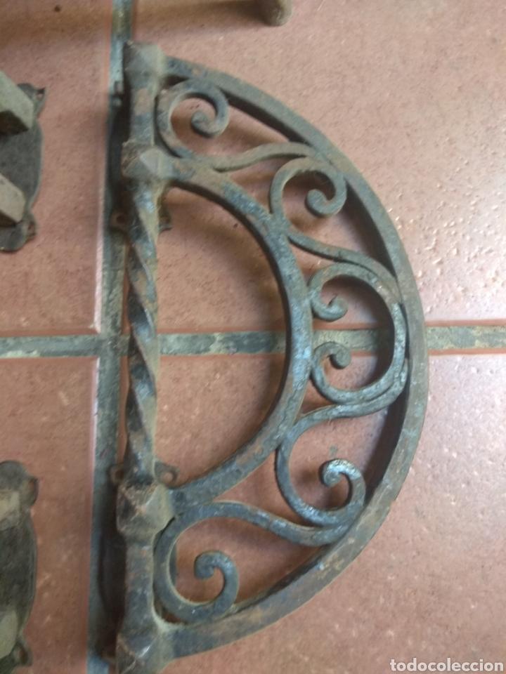 Antigüedades: Pareja de Tiradores de Forja - Gran Tamaño - Raros - - Foto 4 - 196799805