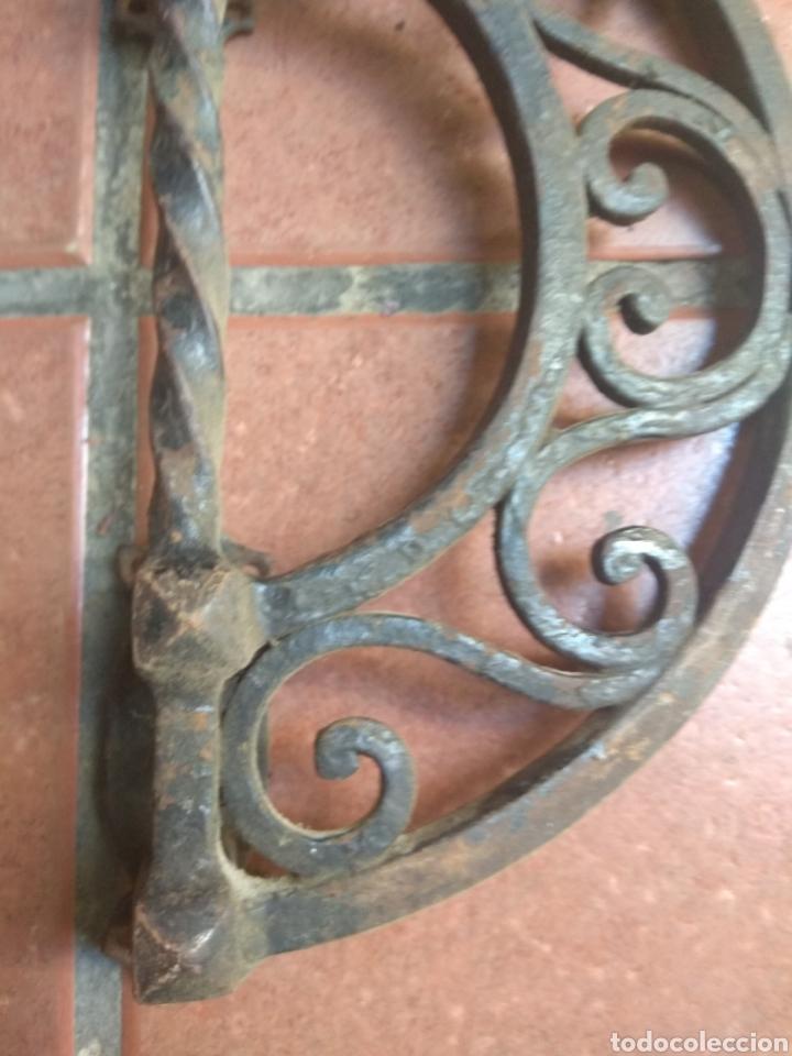 Antigüedades: Pareja de Tiradores de Forja - Gran Tamaño - Raros - - Foto 7 - 196799805