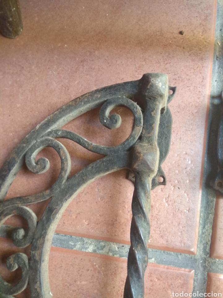 Antigüedades: Pareja de Tiradores de Forja - Gran Tamaño - Raros - - Foto 9 - 196799805