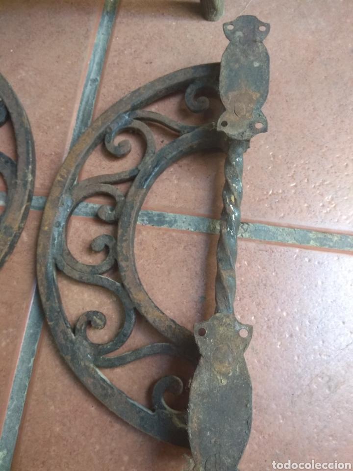 Antigüedades: Pareja de Tiradores de Forja - Gran Tamaño - Raros - - Foto 11 - 196799805