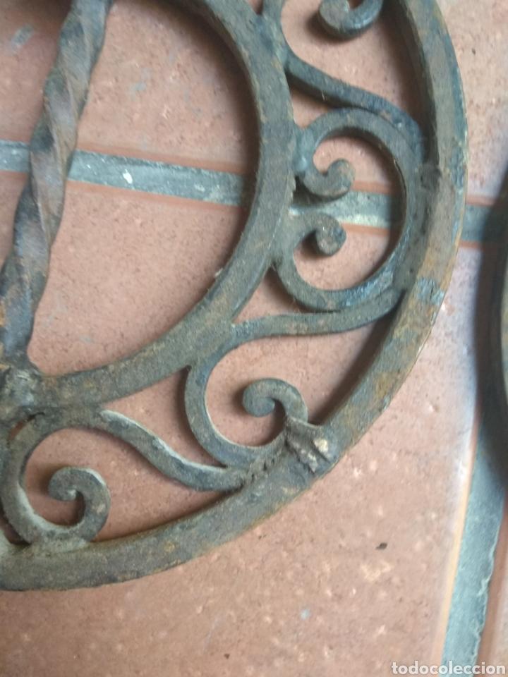 Antigüedades: Pareja de Tiradores de Forja - Gran Tamaño - Raros - - Foto 13 - 196799805