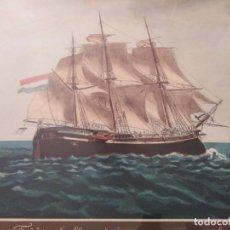 Antigüedades: ANTIGUA LAMINA BATALLA NAVAL. Lote 196865733