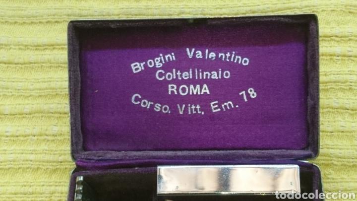 Antigüedades: ESTUCHE KIT DE AFEITADO BROGINI VALENTINO ROMA - Foto 8 - 196870501