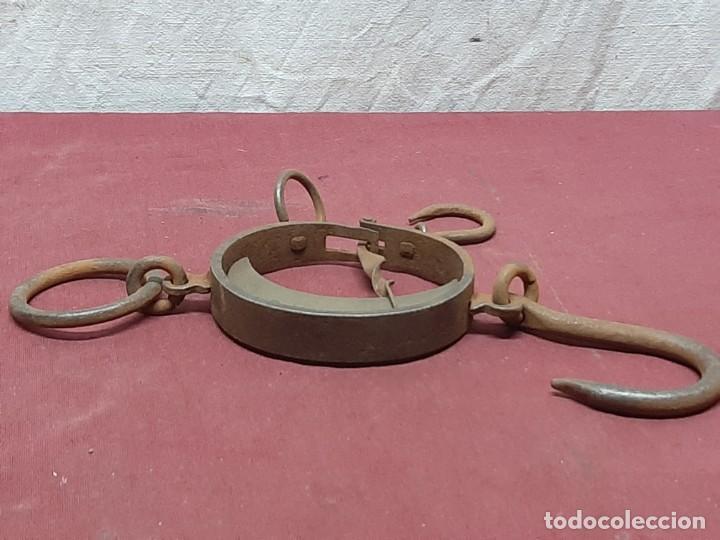 Antigüedades: PESO... DINAMOMETRO... ROMANA DE MEDIA LUNA / TRAPERO...XIX - Foto 4 - 196943672