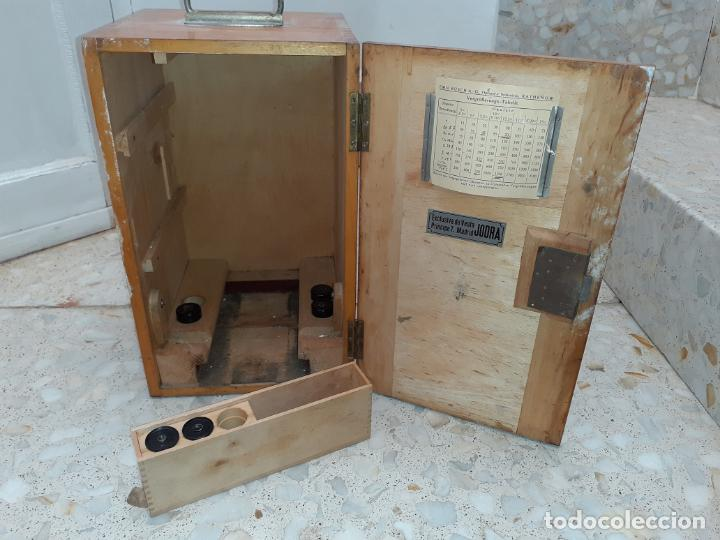 CAJA DE MICROSCOPIO EMIL BUSCH CON ALGUNAS LENTES DE VENTA EN JODRÁ MADRID // LO DE LA FOTO (Antigüedades - Técnicas - Instrumentos Ópticos - Microscopios Antiguos)
