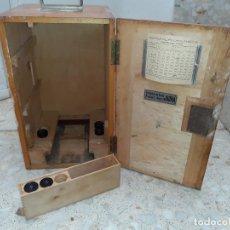 Antigüedades: CAJA DE MICROSCOPIO EMIL BUSCH CON ALGUNAS LENTES DE VENTA EN JODRÁ MADRID // LO DE LA FOTO. Lote 196944642