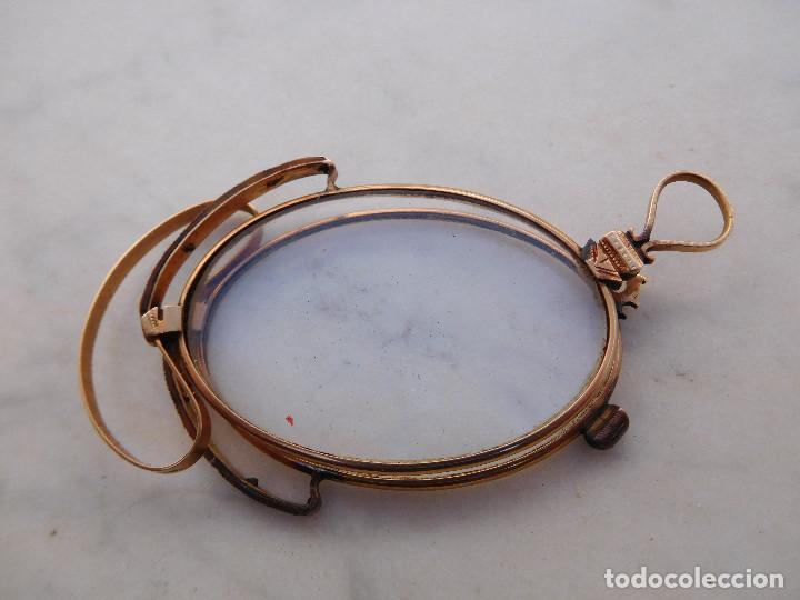 Antigüedades: Gafas plegables antiguas de oro 14k con su funda original Benigno Piquero Gijon - Foto 3 - 197037097