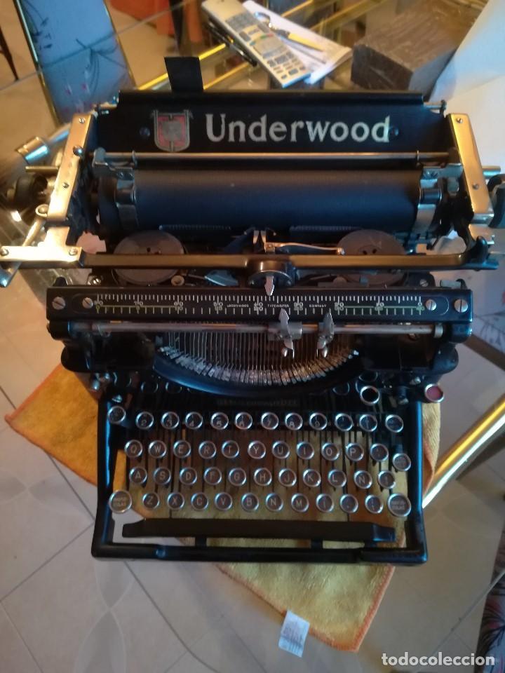 MÁQUINA DE ESCRIBIR UNDERWOOD. USA. FUNCIONA PERFECTAMENTE. (Antigüedades - Técnicas - Máquinas de Escribir Antiguas - Underwood)