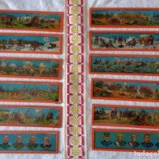 Antigüedades: 12 CRISTALES DE LINTERNA MAGICA,4,5 CM MILITAR, ANTIGUO ALEMAN. Lote 197080265