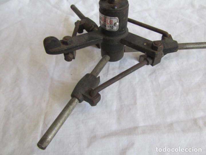 Antigüedades: Herramienta de hierro centrador Ralo Patentado - Foto 5 - 197097202