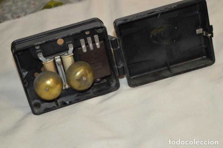 MARCONI / ESPAÑA - ANTIGUO TIMBRE EXTERIOR, PARA TELÉFONO - BAKELITA / BAQUELITA - ¡MUY RARO, MIRA! (Antigüedades - Técnicas - Teléfonos Antiguos)