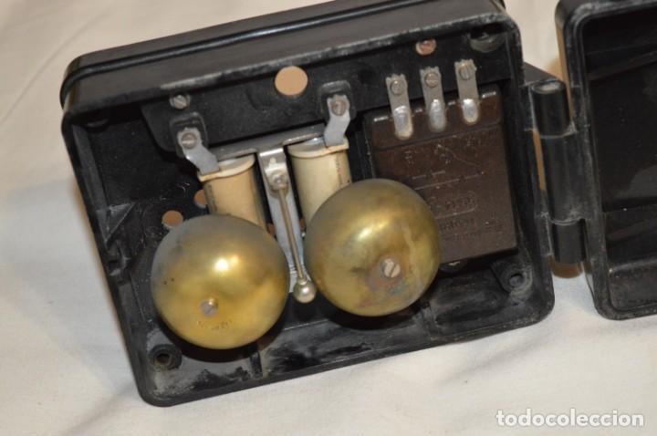 Teléfonos: MARCONI / España - Antiguo timbre exterior, para teléfono - BAKELITA / BAQUELITA - ¡Muy raro, mira! - Foto 5 - 197129607