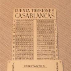 Antigüedades: UNICA REGLA CALCULADORA DE CUENTA TORSIONES CASABLANCAS HILATURAS. Lote 197168357