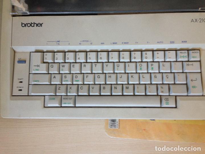 Antigüedades: Máquina de escribir electrica,Brother AX-210 - Foto 3 - 197250825