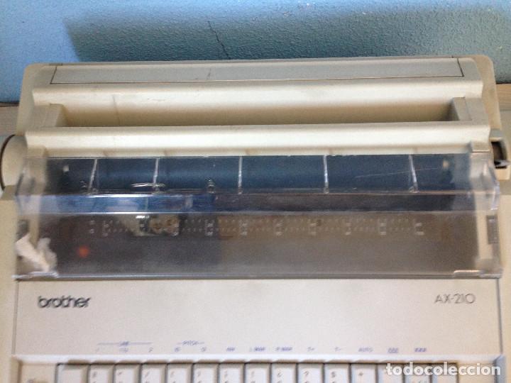 Antigüedades: Máquina de escribir electrica,Brother AX-210 - Foto 4 - 197250825