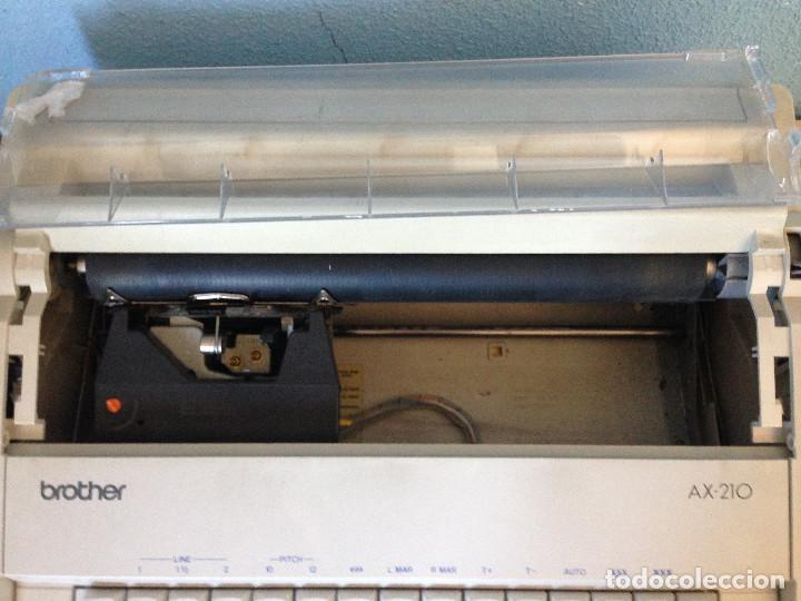 Antigüedades: Máquina de escribir electrica,Brother AX-210 - Foto 5 - 197250825
