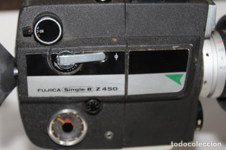 Antigüedades: ANTIGUA CAMARA TOMAVISTAS FUJICA SINGLE 8 Z 450 CON CAJA ORIGINAL FUJICA - Foto 2 - 197253196