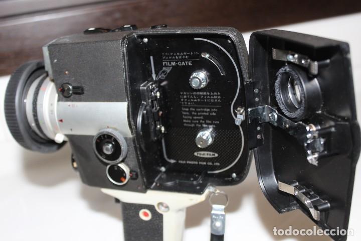 Antigüedades: ANTIGUA CAMARA TOMAVISTAS FUJICA SINGLE 8 Z 450 CON CAJA ORIGINAL FUJICA - Foto 7 - 197253196
