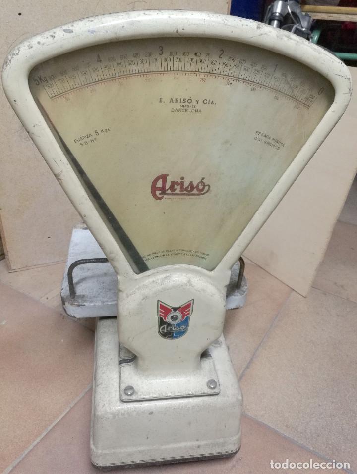 Antigüedades: BÁSCULA ARISO fuerza 5kg - Foto 5 - 197255172