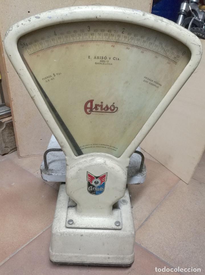 Antigüedades: BÁSCULA ARISO fuerza 5kg - Foto 7 - 197255172