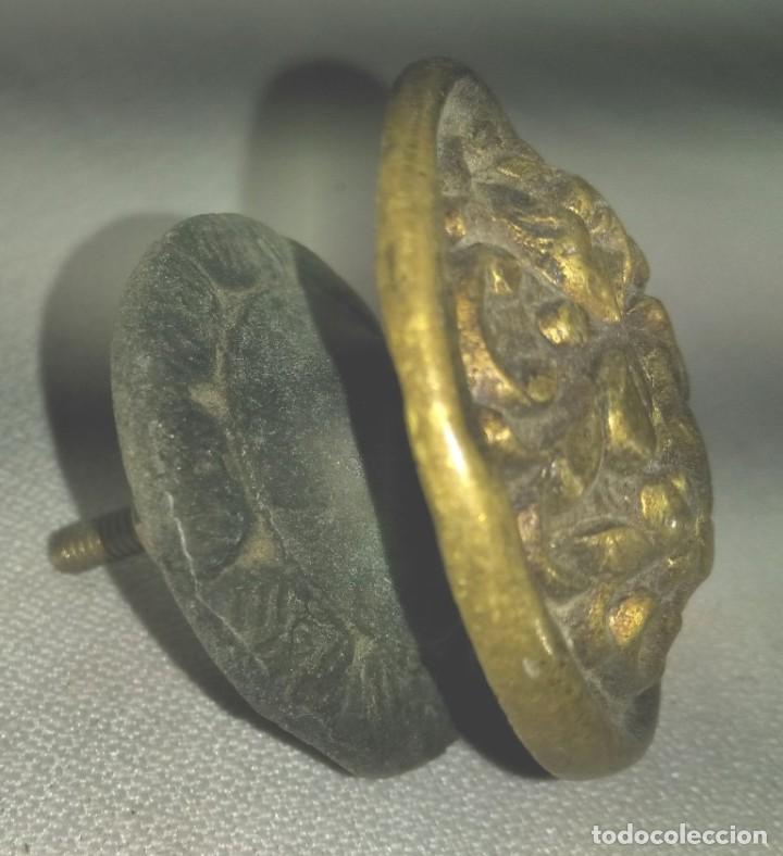 Antigüedades: TIRADOR DE MUEBLE EN BRONCE , FINALES XIX PRINCIPIOS DEL XX - Foto 2 - 197378840