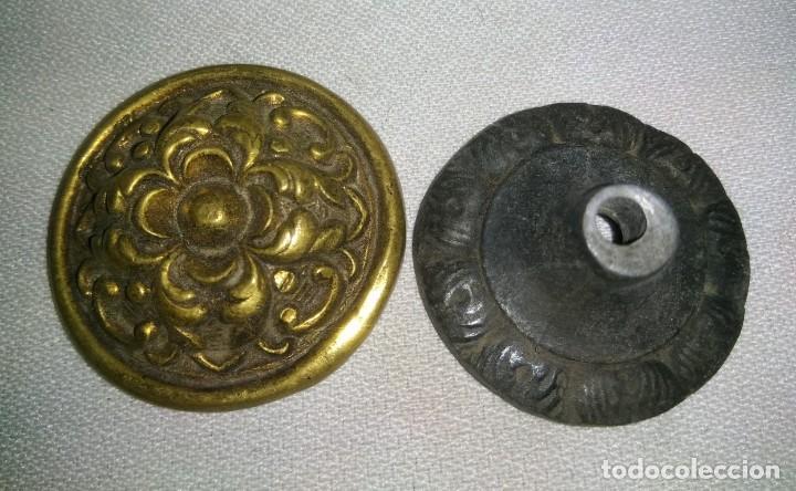 Antigüedades: TIRADOR DE MUEBLE EN BRONCE , FINALES XIX PRINCIPIOS DEL XX - Foto 4 - 197378840