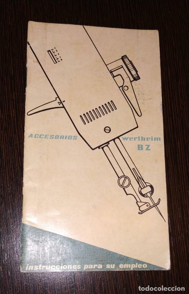 INSTRUCCIONES PARA MAQUINA DE COSER WERTHEIM. BZ. 20 PAGINAS. (Antigüedades - Técnicas - Máquinas de Coser Antiguas - Wertheim )