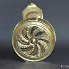 Antigüedades: MIRILLA COMPLETA DE METAL DE 11 CM DE DIÁMETRO Y 45 MM DE FONDO. Lote 197393122