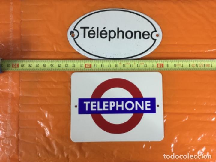 Teléfonos: Lote de dos pequeñas placas esmaltadas TELEPHONE - Foto 2 - 197396882