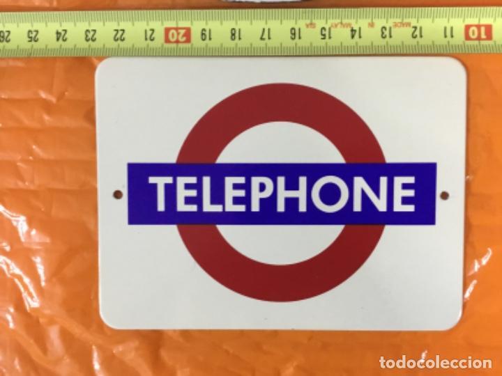 Teléfonos: Lote de dos pequeñas placas esmaltadas TELEPHONE - Foto 4 - 197396882