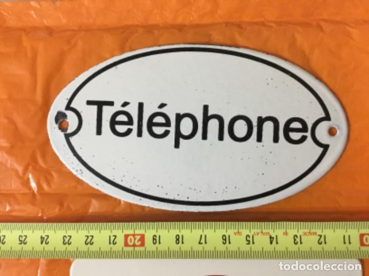 Teléfonos: Lote de dos pequeñas placas esmaltadas TELEPHONE - Foto 5 - 197396882