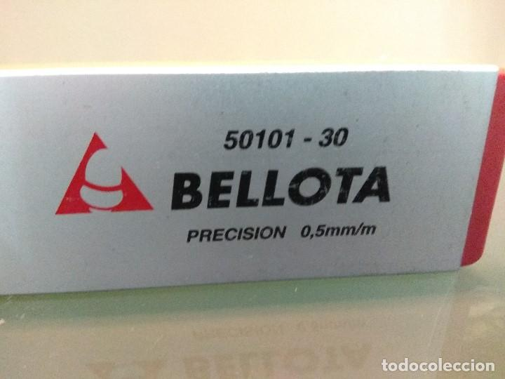 Antigüedades: EXCELENTE NIVEL BELLOTA 50101/30 PRECISION 0,5 MM/M - Foto 7 - 197398931