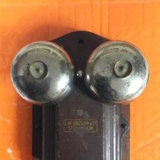 Teléfonos: ANTIGUO Y EXCELENTE TIMBRE MADERA Y CAMPANAS, USO TELEFÓNICO, ORIGINAL, DE LA CASA SUECA LM ERICSSON. Lote 197401993