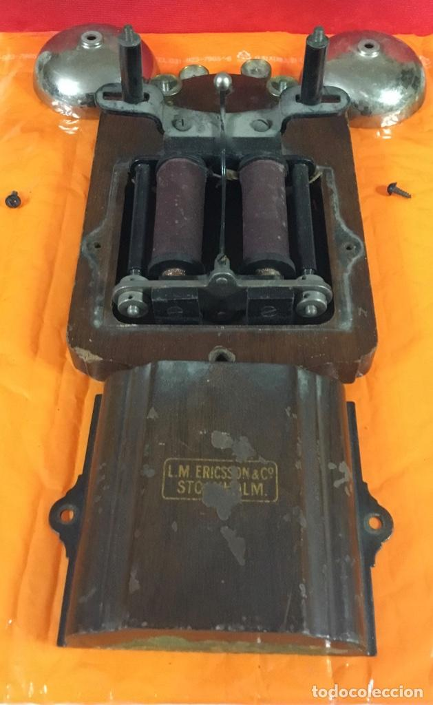 Teléfonos: Antiguo y excelente timbre madera y campanas, uso telefónico, original, de la casa sueca LM Ericsson - Foto 6 - 197401993