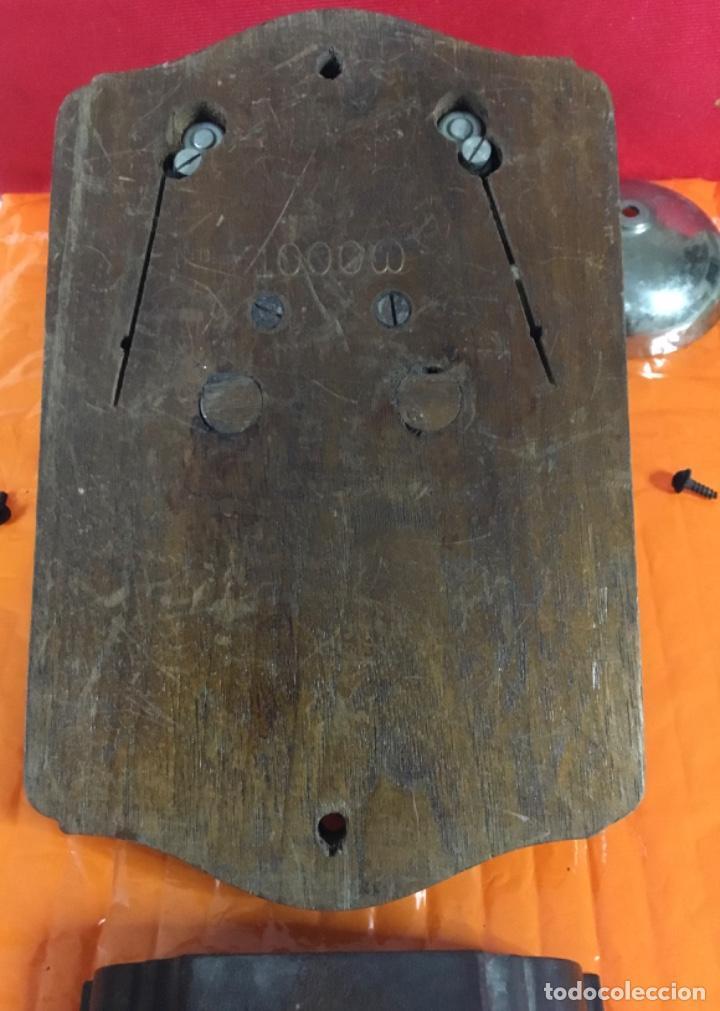 Teléfonos: Antiguo y excelente timbre madera y campanas, uso telefónico, original, de la casa sueca LM Ericsson - Foto 8 - 197401993