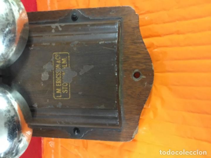 Teléfonos: Antiguo y excelente timbre madera y campanas, uso telefónico, original, de la casa sueca LM Ericsson - Foto 11 - 197401993