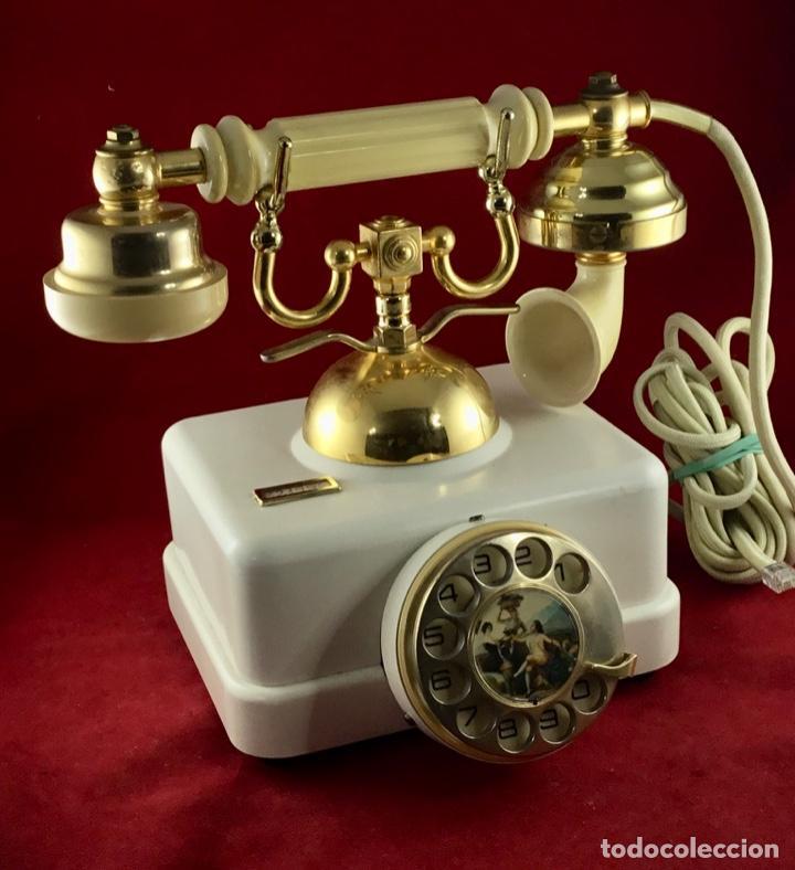 ANTIGUO TELÉFONO ESTILO, DE ELASA, PARA LA CTNE, TELEFÓNICA. (Antigüedades - Técnicas - Teléfonos Antiguos)