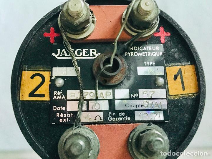 Antigüedades: INDICADOR DIRECCIONAL GIROSCOPICO DOBLE DE FUEL O ACEITE JAEGER PYROMETRIQUE INDICATEUR AVIACIÓN - Foto 5 - 197406043